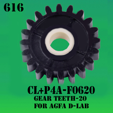 CL+P4-F0620-GEAR-TEETH 20-FOR-AGFA-D LAB-PART