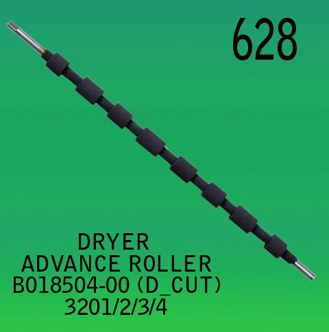B018504-00-DRYER ADVANCE ROLLER-D.CUT-FOR-NORITSU-3201-3202-3203-3204