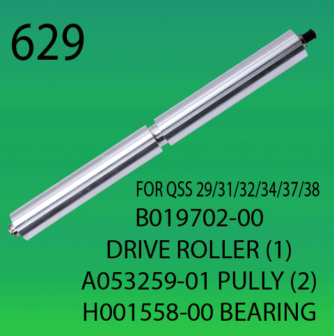 B019702-00-DRIVER ROLLER (1)-A053259-01-PULLY (2)-H001558 BEARING-FOR-NORITSU-2901-3101-3201-3401-3701-3801-CONVEYOR BELT ROLLER
