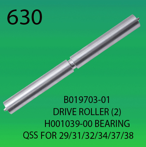 B019703-01-DRIVER ROLLER (2)-H001039-00-BEARING-FOR-NORITSU-2901-3101-3201-3401-3701-3801-CONVEYOR BELT ROLLER