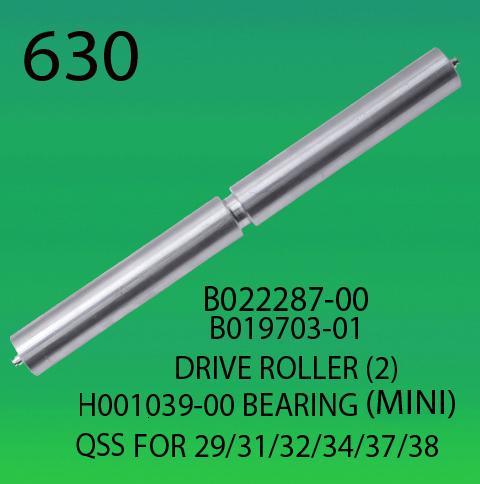 B022287-00-B019703-01-DRIVER ROLLER (2)-H001039-00-BEARING-FOR-NORITSU-2901-3101-3201-3401-3701-3801-CONVEYOR BELT ROLLER