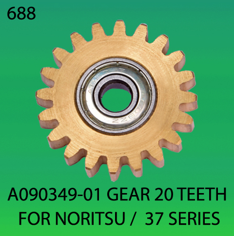 A090349-01-GEAR TEETH 20-FOR-NORITSU 37 SERIES